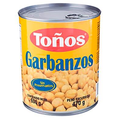 GARBANZOS TONOS 800 GR