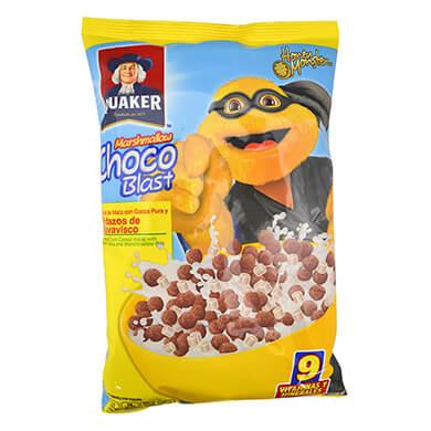 Cereal de maiz Quaker chocoblast 170 g