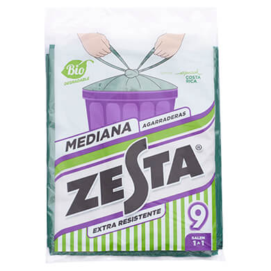 BOLSA ZESTA MEDIANA BIO PAQ 9UDS