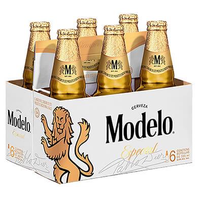 Cerveza Modelo especial botella 6 pack 355 ml