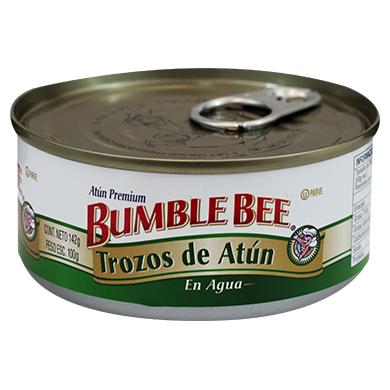 ATUN BUMBLE BEE TROZOS EN AGUA 100 GR