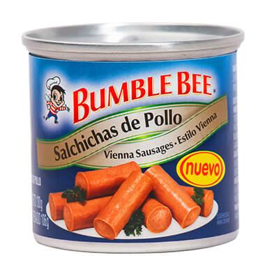 SALCHICHA DE POLLO VIENNA BUMBLE BEE 106 GR