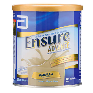 POLVO ENSURE ADVANCE VAINILLA 400 GR