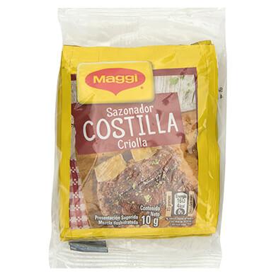 Consome Maggi costilla criolla 4 unidades 10 g