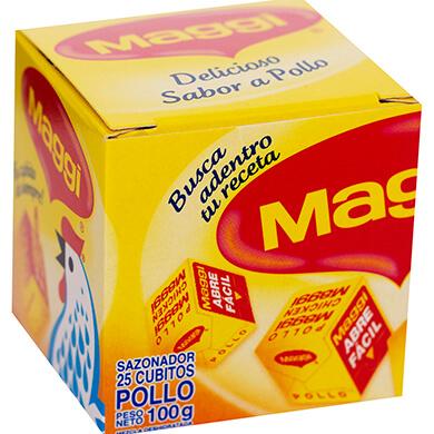 CUBITOS MAGGI POLLO 25UNIDADES 100GR