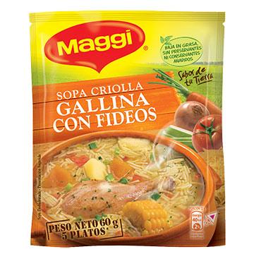 SOPA MAGGI FIDEOS GALLINA CRIOLLA 60GR
