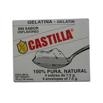 GELATINA CASTILLA SIN SABOR CAJITA 85GR