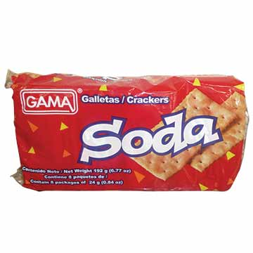 GALLETA GAMA SODA 192GR