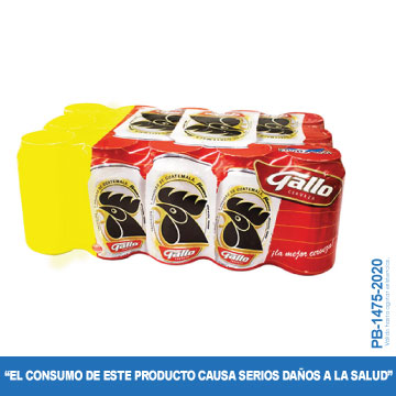 CERVEZA GALLO PAGUE 12 LLEVE15 LAT 350ML