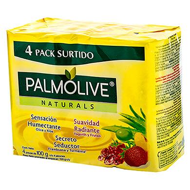 Jabon Palmolive naturals mixto 4 pack 400 g